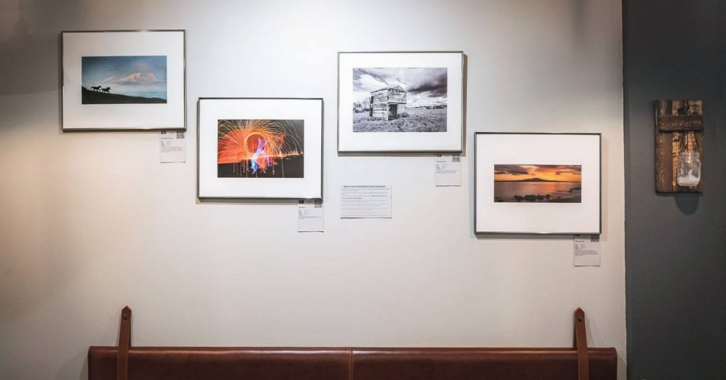 Joe's Eatery displaying work from North Shore Photography Society